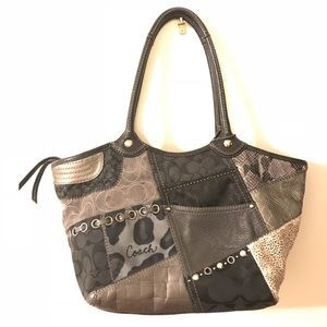 Authentic Coach Animal Print & Patchwork Bag EUC
